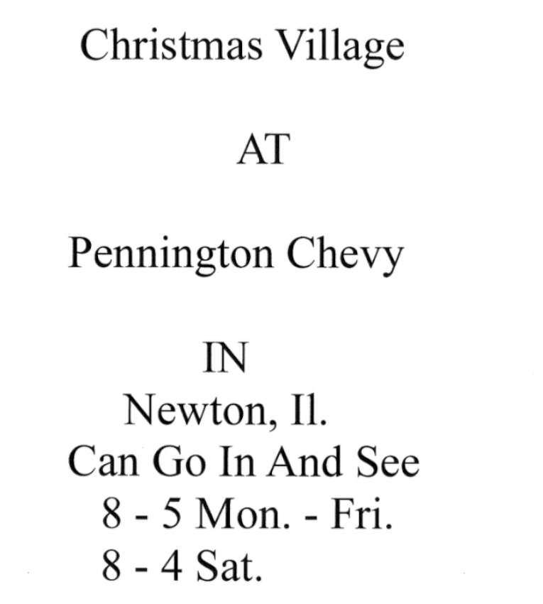 Christmas Village at Newton 850