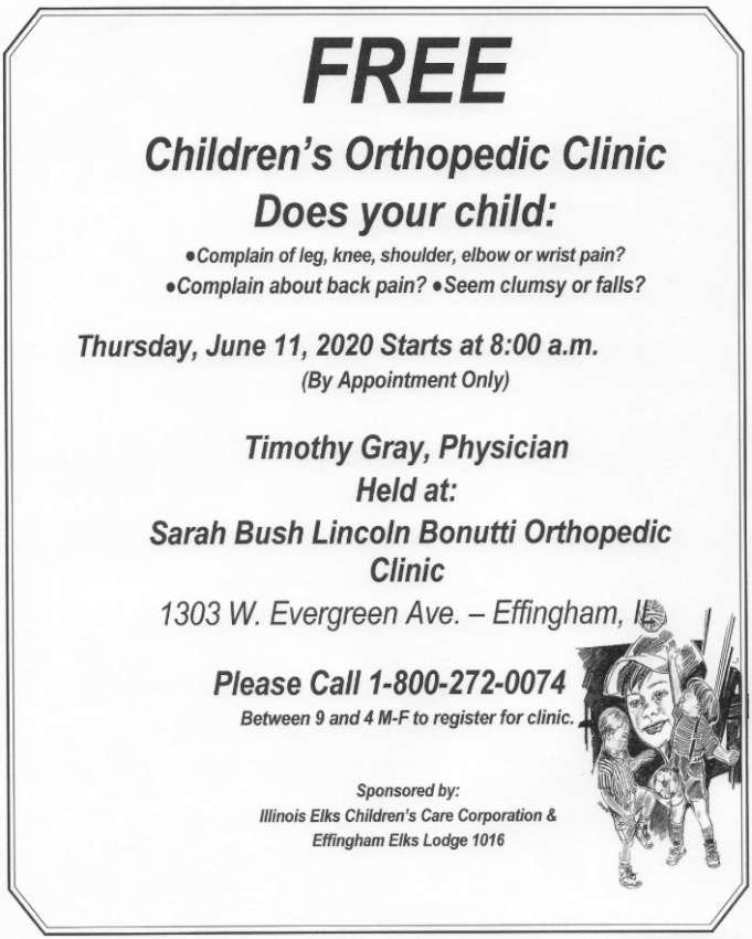 Free Orthopedic Clinic 850