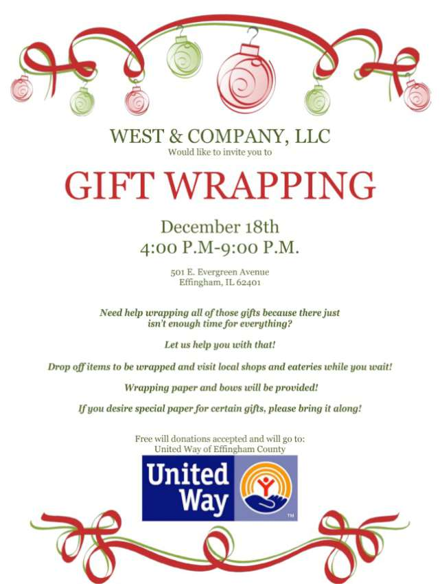 Gift Wrapping for United Way 850
