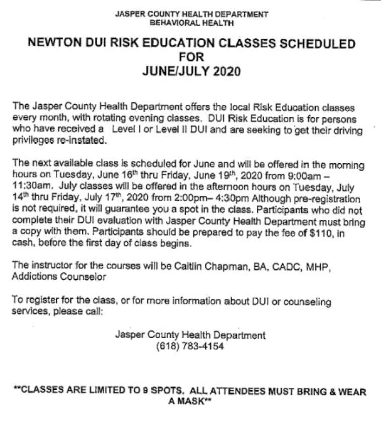Newton DUI Classes 850