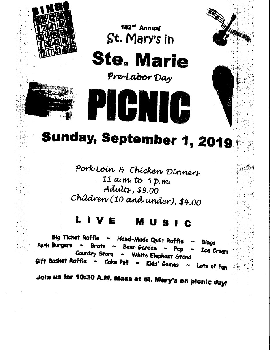 St Marie Picnic 2019